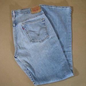 Levi's 515 Boot Cut Stretch Blue Jeans Low Rise 8